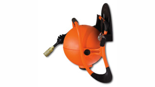 RoboReel® Air Hose Reel Rolls It Up Right