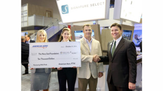 Amercan Aero FTW Donates $10,000 to the Navy Seal Foundation at NBAA 2014 Annaul Convention in Orlando