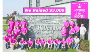 Helicopter Specialties, Inc. Observes Breast Cancer Awareness Month Hovering for Hooters