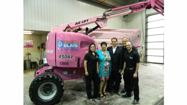 Canadian JLG Dealer Raises Breast Cancer Awareness With Pink Boom Lift