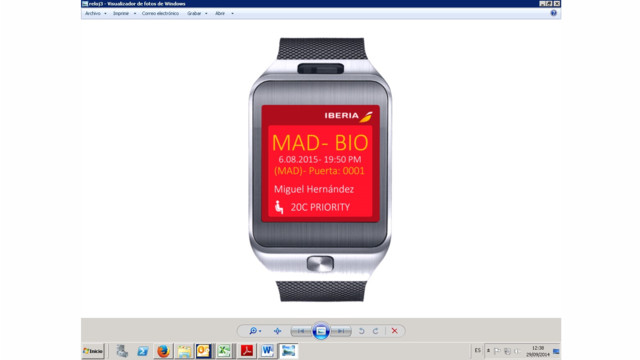 Iberia And Samsung Roll Out 'Wearable' Boarding Pass