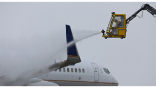 Planes Undergo New Deicing System At Denver International Airport