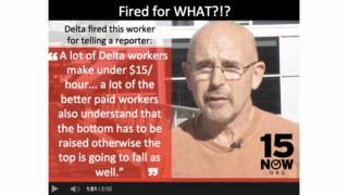 What Delta Baggage Handler Said That Got Him Fired