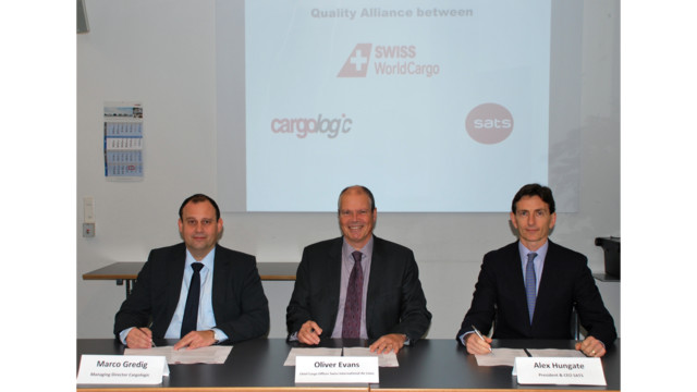 Swiss WorldCargo, Cargologic and SATS Sign MoU To Enhance Cargo Handling And IT Services