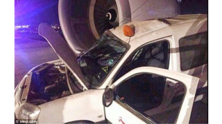 Plane Hits Patrol Car On Tarmac At King Abdulaziz International Airport