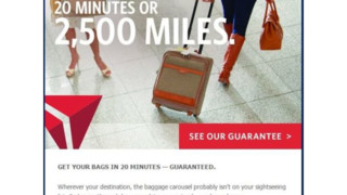 Delta Tests 20-minute 'Guarantee' For Checked Bags