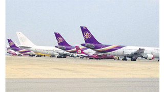 THAI's Old Jets Hog Space At Don Mueang