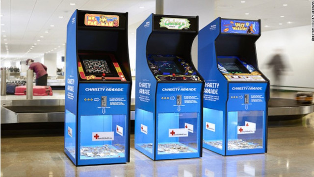 Swedish Airports Use Retro Video Games To Collect Spare Change For Red Cross