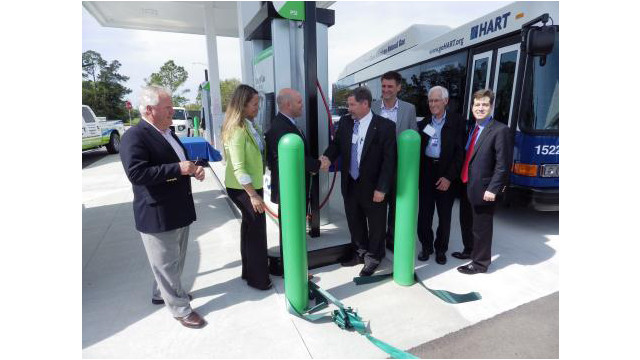 orlando international airport welcomes clean energy compressed natural gas station. Black Bedroom Furniture Sets. Home Design Ideas
