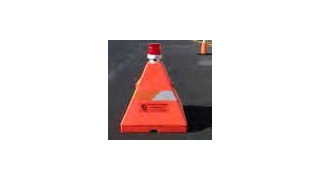 18in Airport mini Green Dragon Tooth® 1812 Traffic Barricade (Orange)