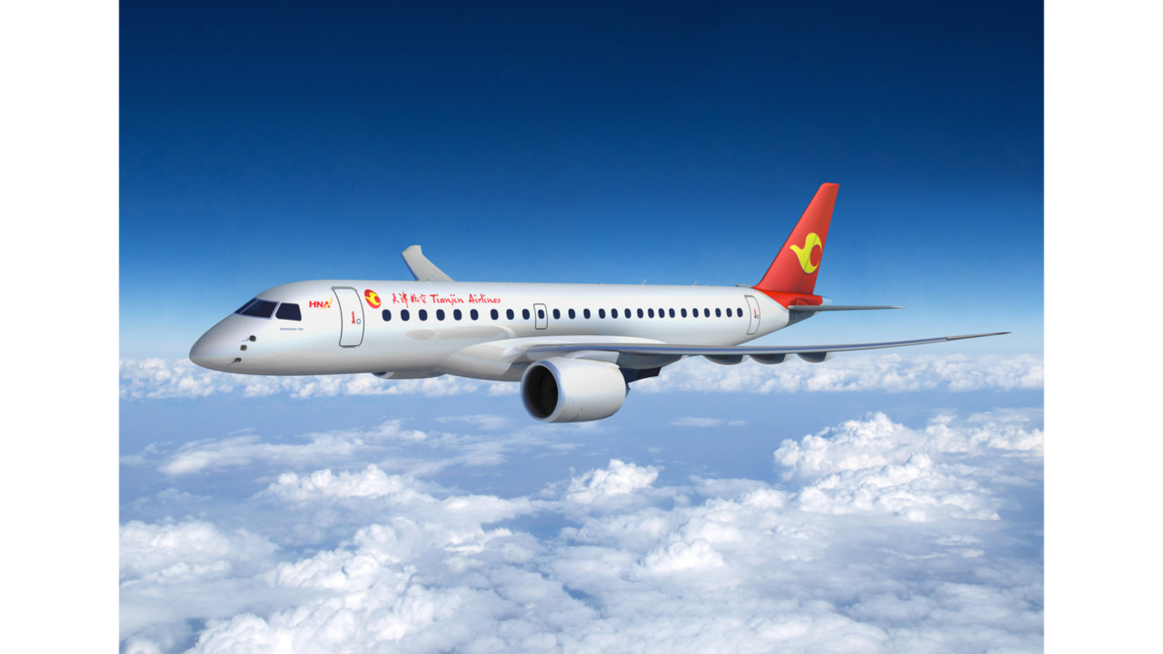 Embraer confirms firm order from tianjin airlines for e jets and e jets e2