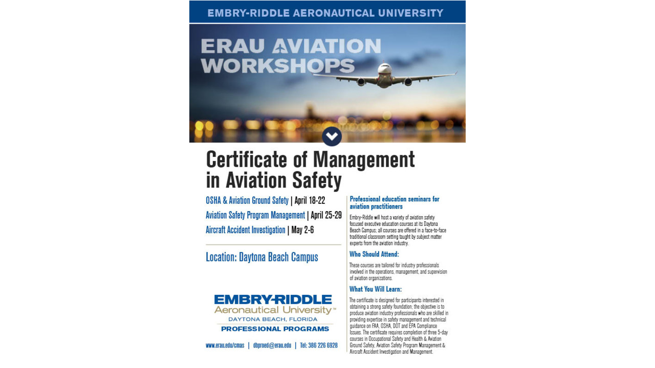 aviation safety program The primary objective of the aviation safety program is to support coast guard office of safety and environmental health (cg-113) mission, vision and values by providing safety oversight and advocacy for aviation assets, systems and missions.