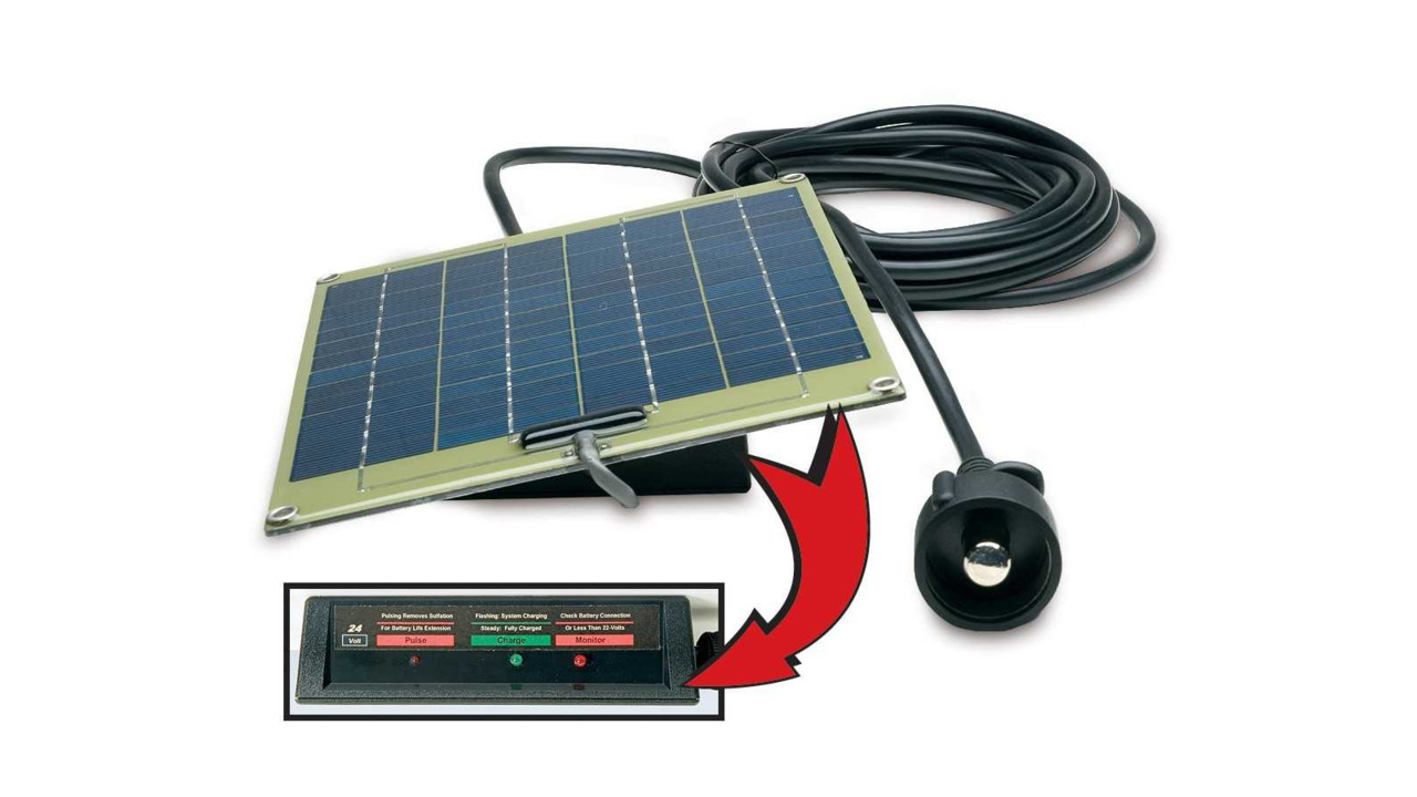 24 Volt Solar Pulse Battery Charger Monitor System
