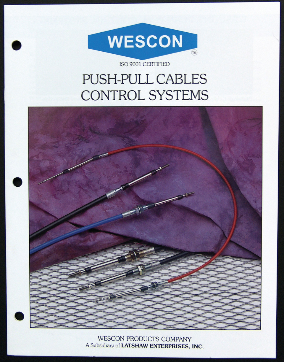 Wescon Controls LLC Mechanical Control Cables in GSE Parts & Components