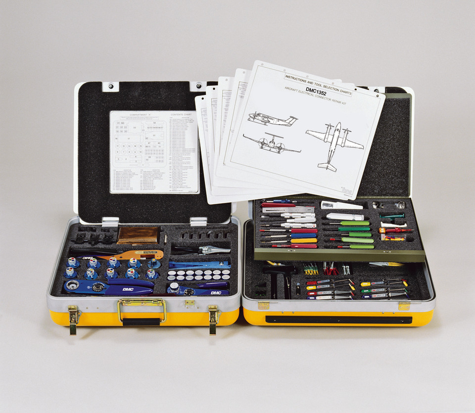 dmc does the research to determine tool selection for aircraft wire harness  maintenance and rework  dmc wiring maintenance tool kits include detailed  tool