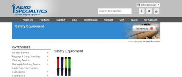 AERO Specialties Ramp Safety Products in Safety Equipment