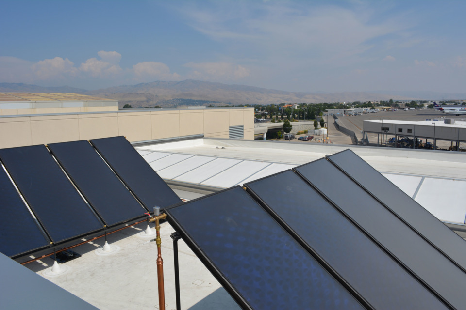 Boise Airport Uses Solar Power for Hot Water System