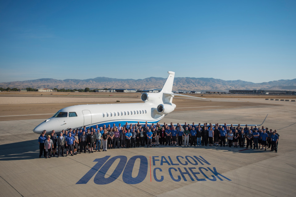 Western Aircraft Completes 100th Falcon C-Inspection