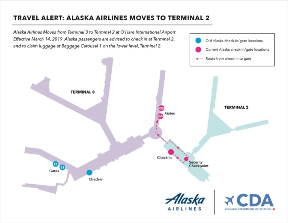 Alaska Airlines Moves To Terminal 2 At O Hare