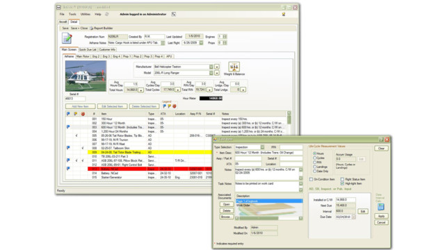 MTrax version 2.6 maintenance software