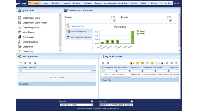 Proteus Computerized Maintenance Management Software Cmms