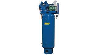 Electric two-stage stationary air compressors