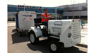 WestJet Unveils Electric Baggage Tug on Earth Day