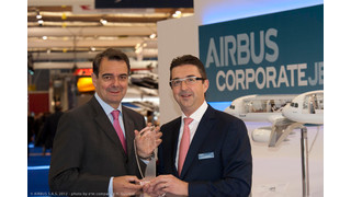 Airbus Corporate Jet Centre receives award for tenth VIP cabin delivery as an Airbus approved outfitter