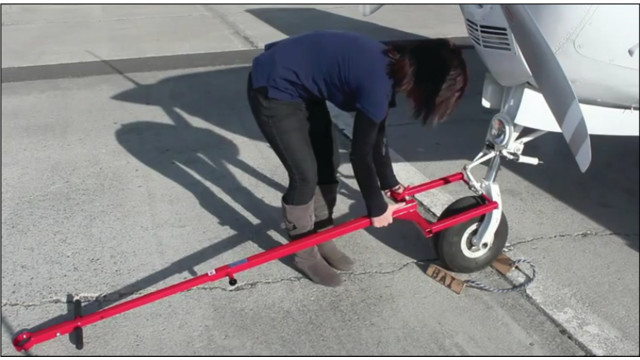 Attach to Any GA Aircraft with Universal Tow Bar
