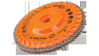 Metal finishing disc