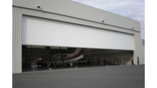 Commercial Fabric Hangar Door