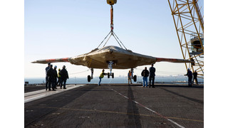 X-47B Unmanned Aircraft Prepares for Carrier Tests