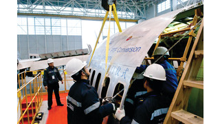 Boeing Shanghai Celebrates Door Cutting Completion for First Boeing 737-300 PTF Conversion