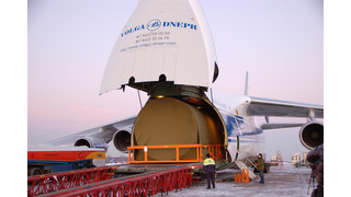 Volga-Dnepr AN-124 Transports Fuselage Section of New Generation of Russian Passenger Aircraft