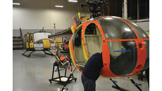 Phoenix Heliparts Refurbishes, Displays Copy of Magnum, P.I. MD 500D for Paradise Helicopters