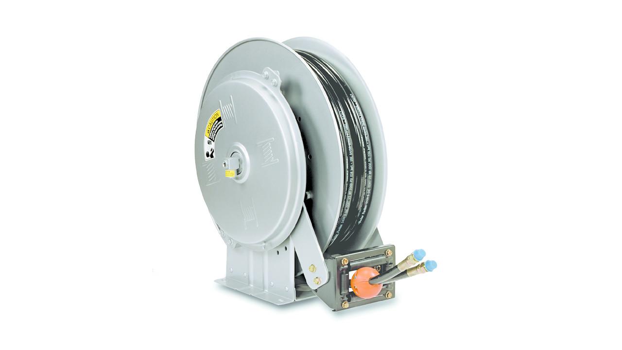 Dual hose reels for Hannay hose reel motor