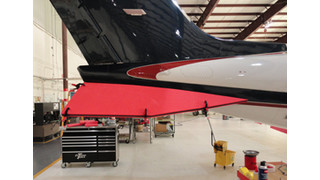 New: Sized Panels Protect Lear Delta Fins, Workers