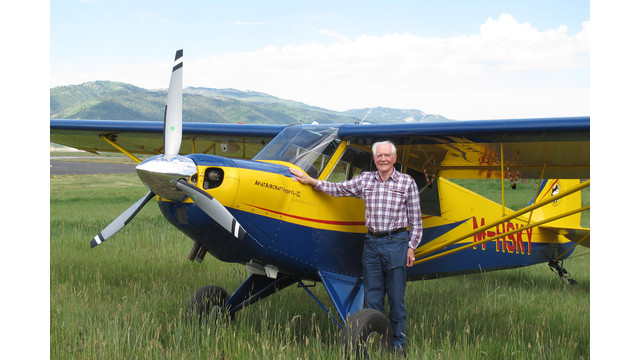 Dr-John-C-Taylor-OBE-in-Wyoming-with-his-new-HUSKY-plane.JPG