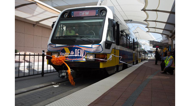 DFW International Airport and Dallas Area Rapid Transit Launch Light Rail Service Connecting DFW to Dallas