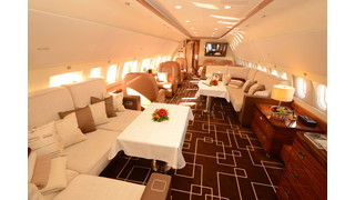 Jet Aviation Basel ACJ319 Completions Design Project Displayed at JetExpo2014