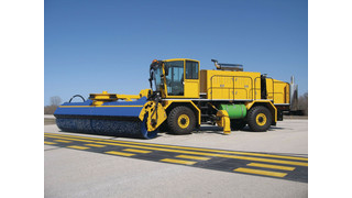 SnoDozer Severe Duty Chassis with SnoSAW Front Mounted Broom