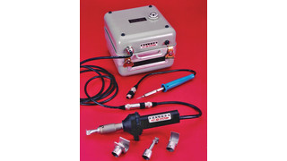 MCH-100 portable heat gun and soldering iron kit