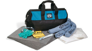 Portable spill kit in a tote bag