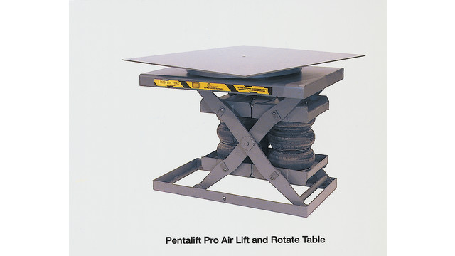 Pro Air Lift and Rotate Table