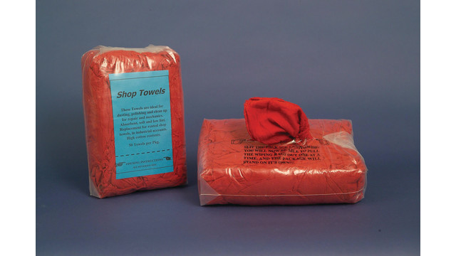 Red shop rags
