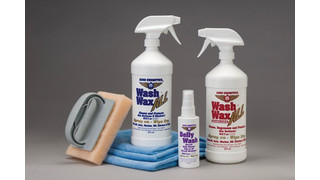 Waterless aircraft washing cleaning polish