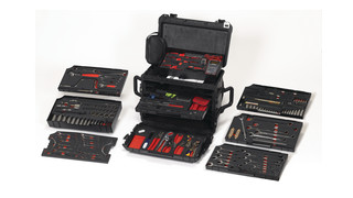 Portable mechanics service sets