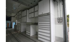 Aluminum storage cabinets