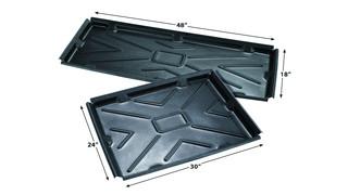 Interlocking drip pan