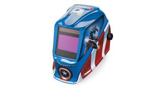 Captain America auto-darkening helmet